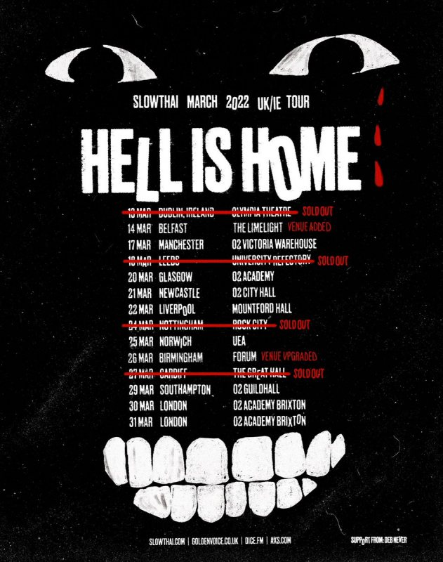 Slowthai at Brixton Academy on Wed 30th March 2022 Flyer