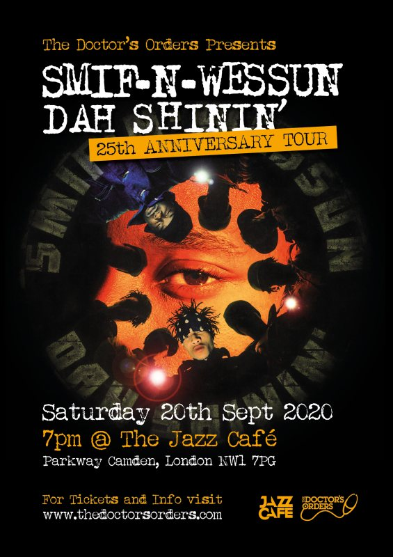 Smif N Wessun at Jazz Cafe on Sun 20th September 2020 Flyer