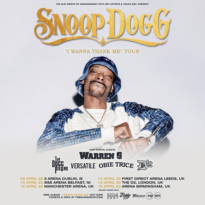 Snoop Dogg at The o2 on Wednesday 15th April 2020 Flyer