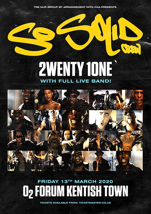 So Solid Crew at The Forum on Fri 13th March 2020 Flyer