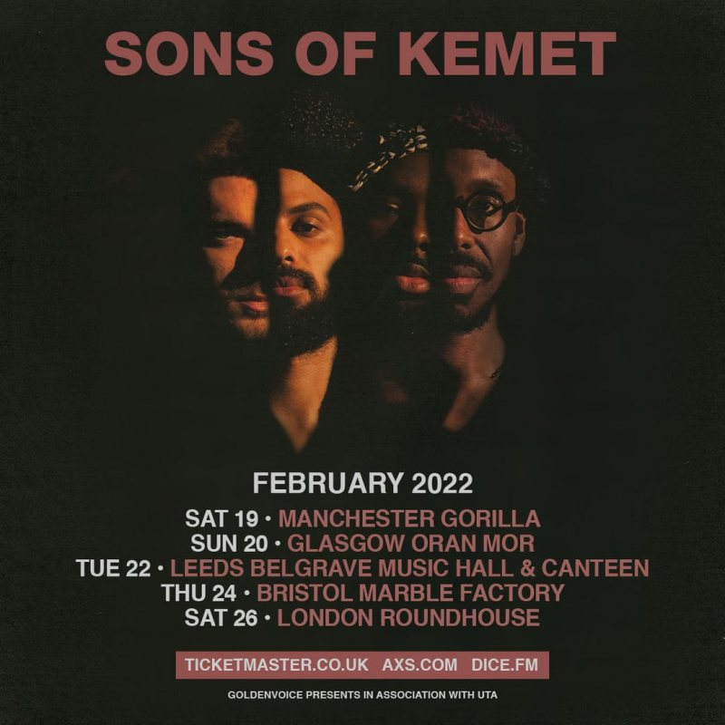 Sons of Kemet at The Roundhouse on Sat 26th February 2022 Flyer