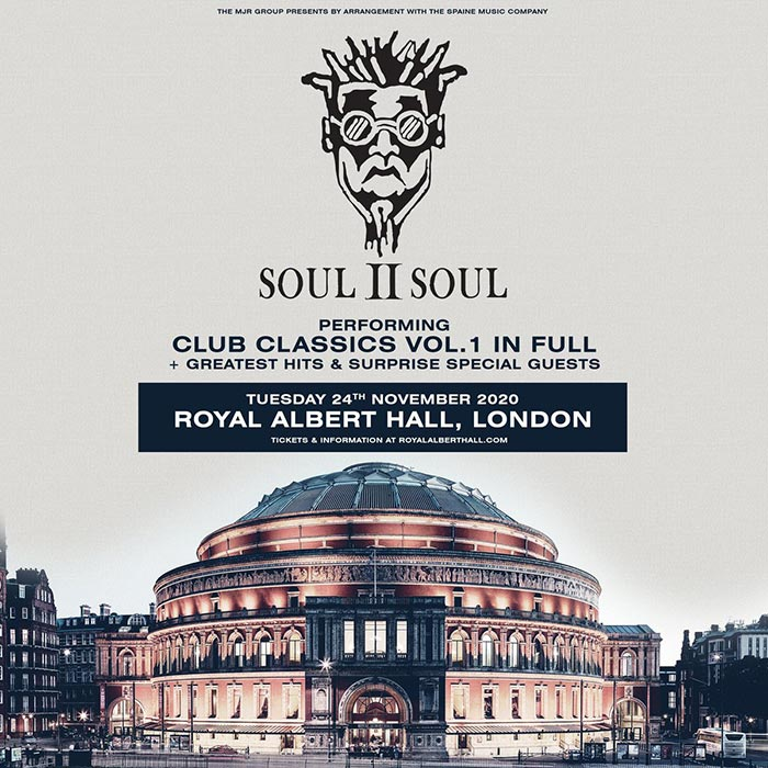 Soul II Soul at Royal Albert Hall on Sun 24th November 2019 Flyer