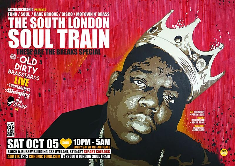 South London Soul Train at Bussey Building on Sat 5th October 2019 Flyer
