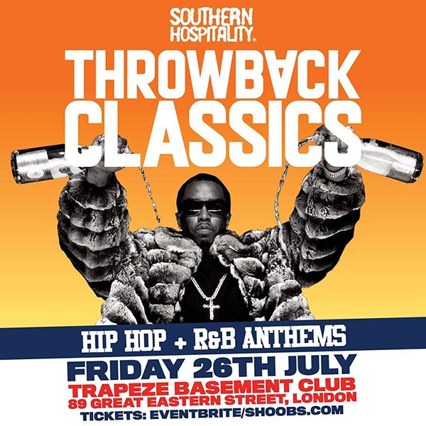 Throwback Classics at Trapeze on Fri 26th July 2019 Flyer