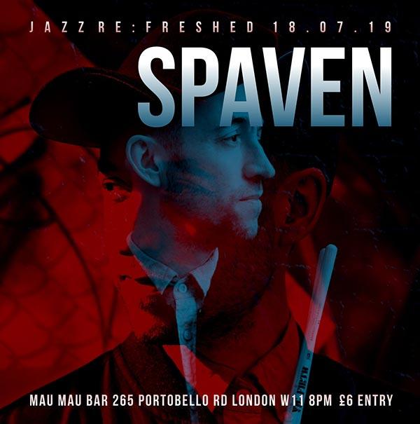 Richard Spaven at Mau Mau Bar on Thu 18th July 2019 Flyer
