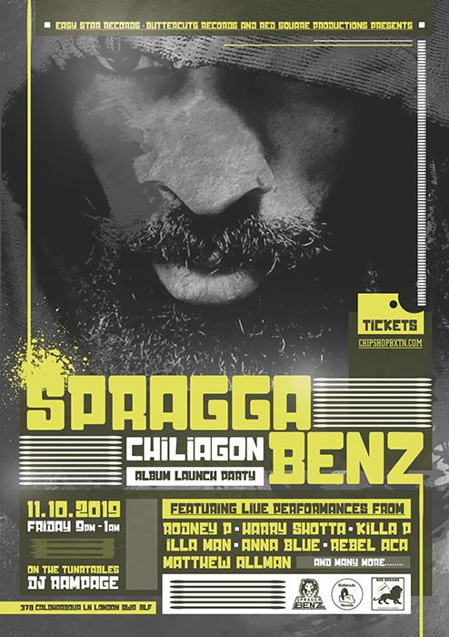 Spragga Benz at Chip Shop BXTN on Fri 11th October 2019 Flyer