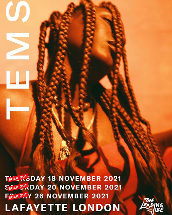 TEMS at Lafayette on Thu 18th November 2021 Flyer