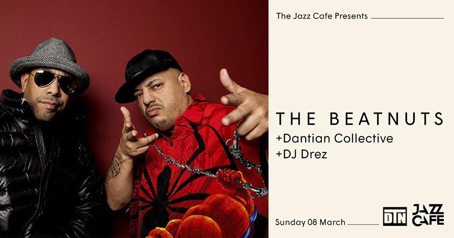 The Beatnuts at Jazz Cafe on Sun 8th March 2020 Flyer
