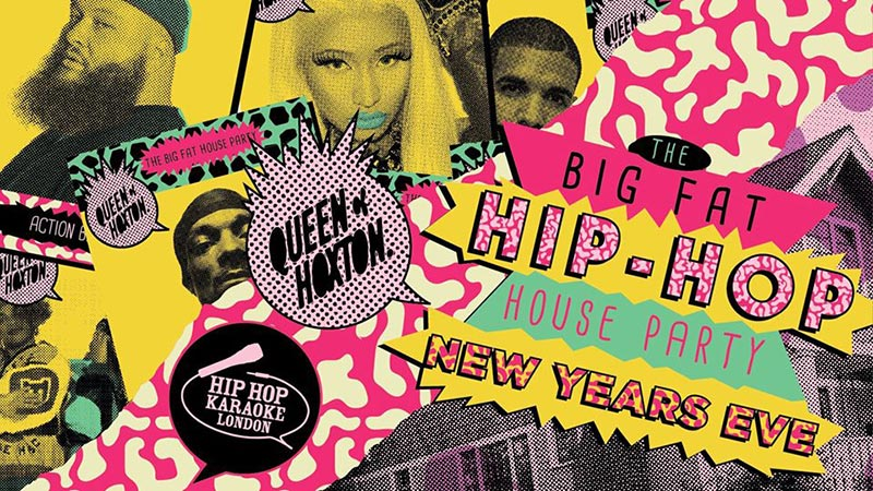 The Big Fat at Hip-hop House Party at Queen of Hoxton on Tue 31st December 2019 Flyer
