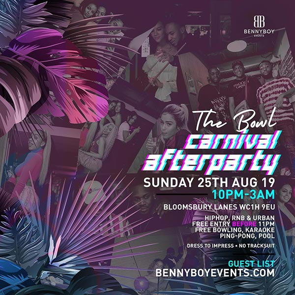 Invasion - The Bowl Party at Bloomsbury Bowl on Sun 25th August 2019 Flyer