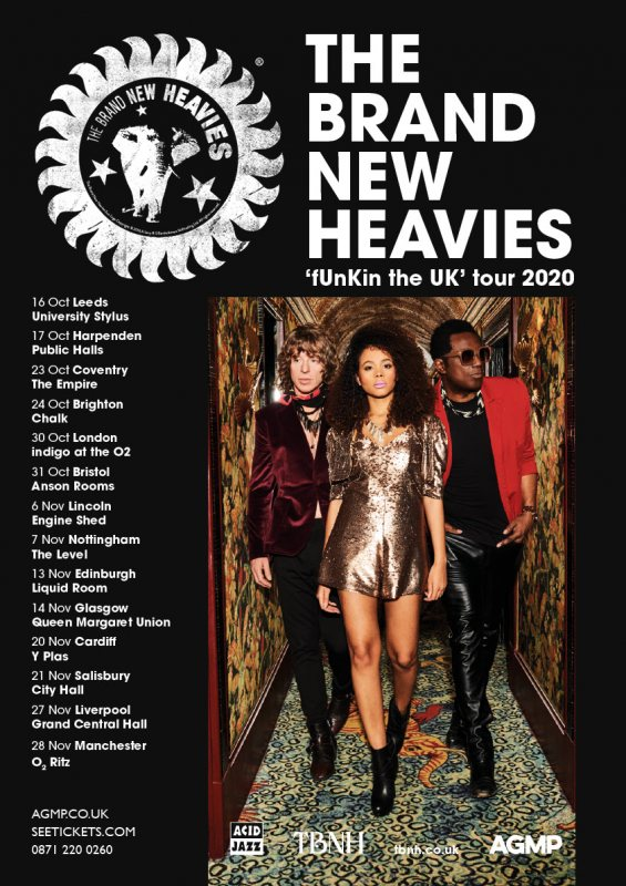 The Brand New Heavies at Indigo2 on Fri 30th October 2020 Flyer