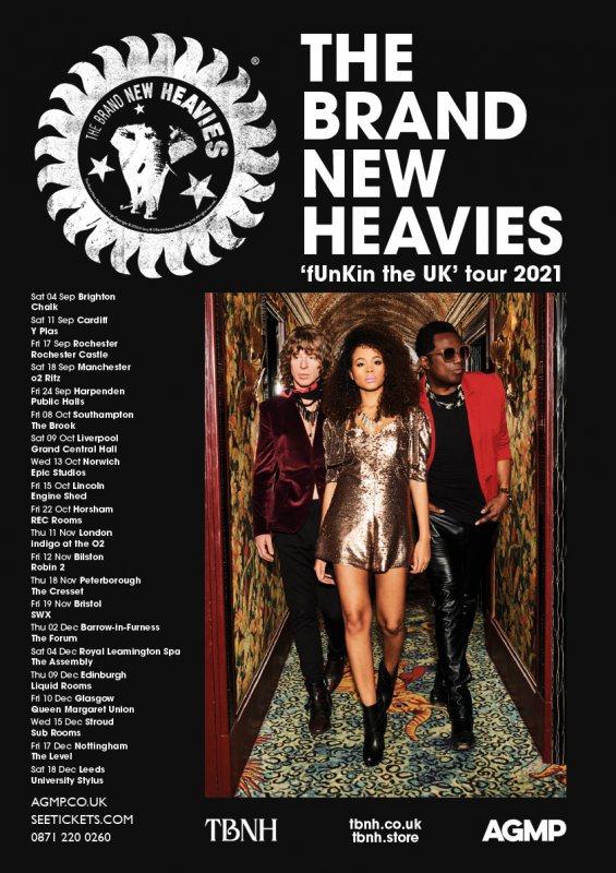 The Brand New Heavies at Indigo2 on Thu 11th November 2021 Flyer