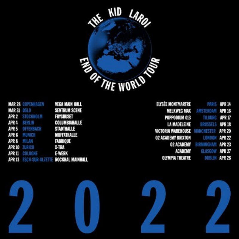 The Kid Laroi at Brixton Academy on Fri 22nd April 2022 Flyer
