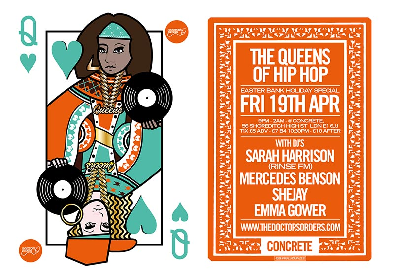 Queens of Hip Hop at Concrete on Fri 19th April 2019 Flyer