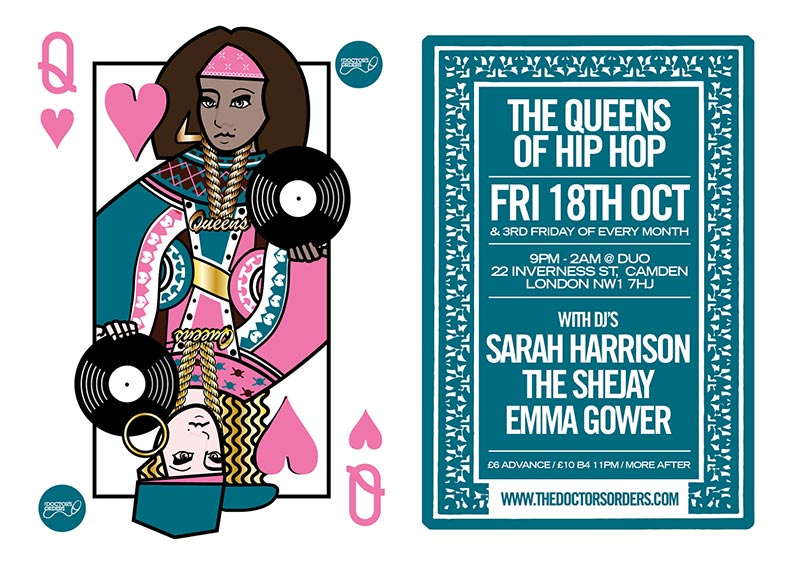 The Queens of Hip-Hop at DUO on Fri 18th October 2019 Flyer