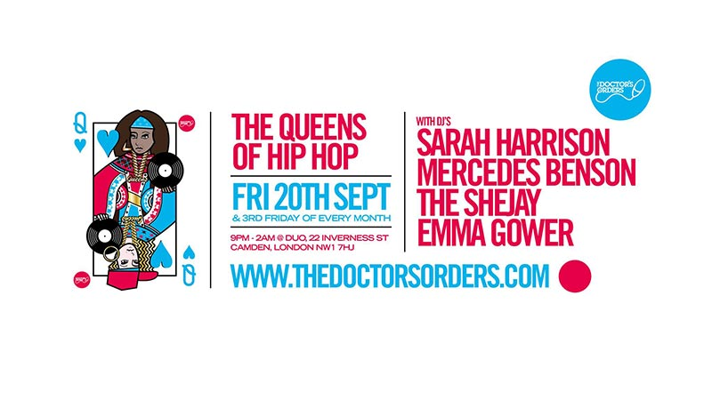 The Queens of Hip-Hop at DUO on Fri 20th September 2019 Flyer