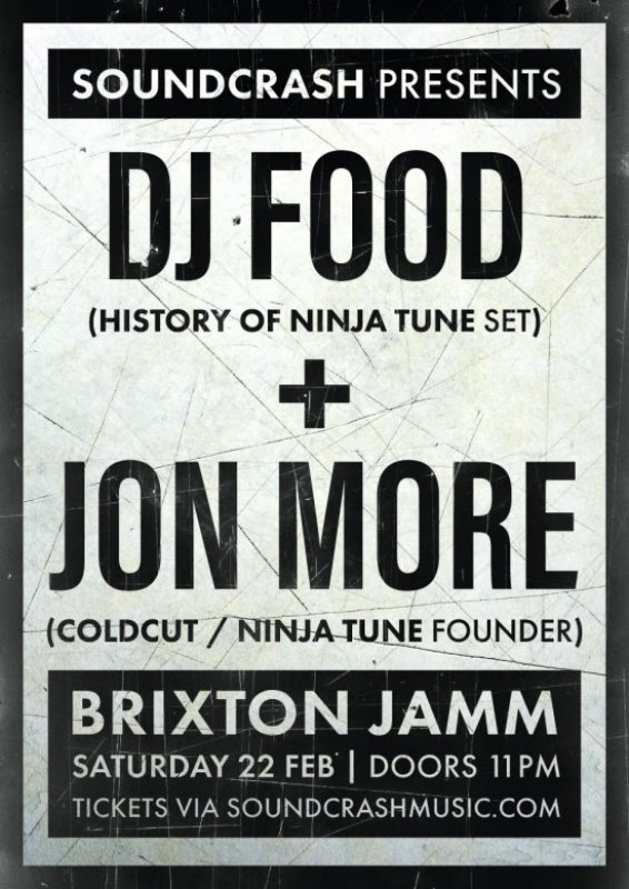 The Soundcrash Afterparty at Brixton Jamm on Sat 22nd February 2020 Flyer