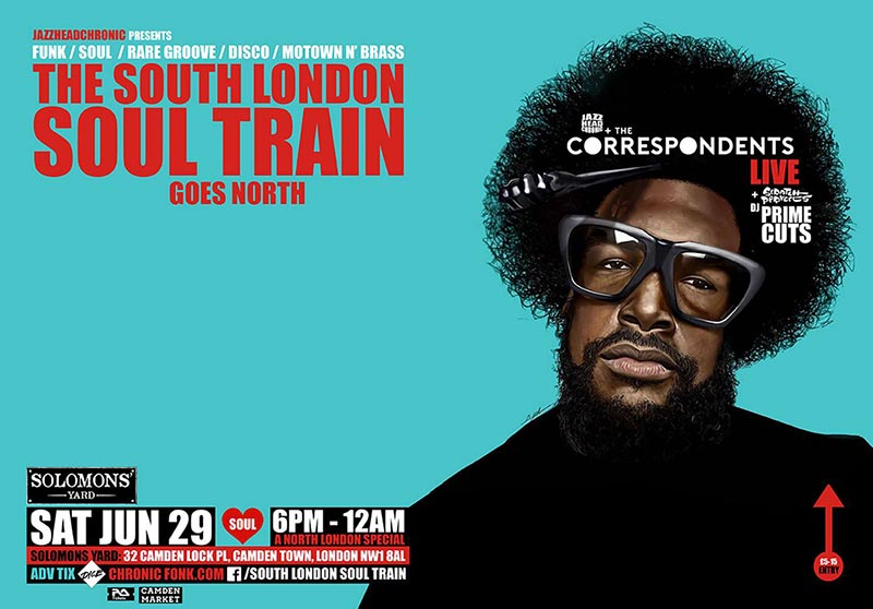 The South London Soul Train at Solomons Yard on Sat 29th June 2019 Flyer