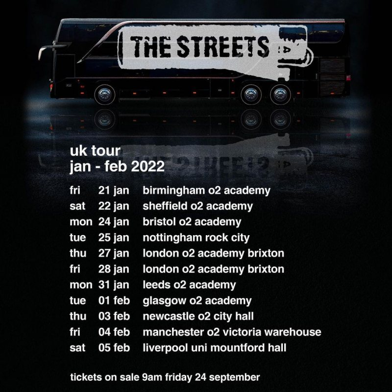 The Streets at Brixton Academy on Fri 28th January 2022 Flyer