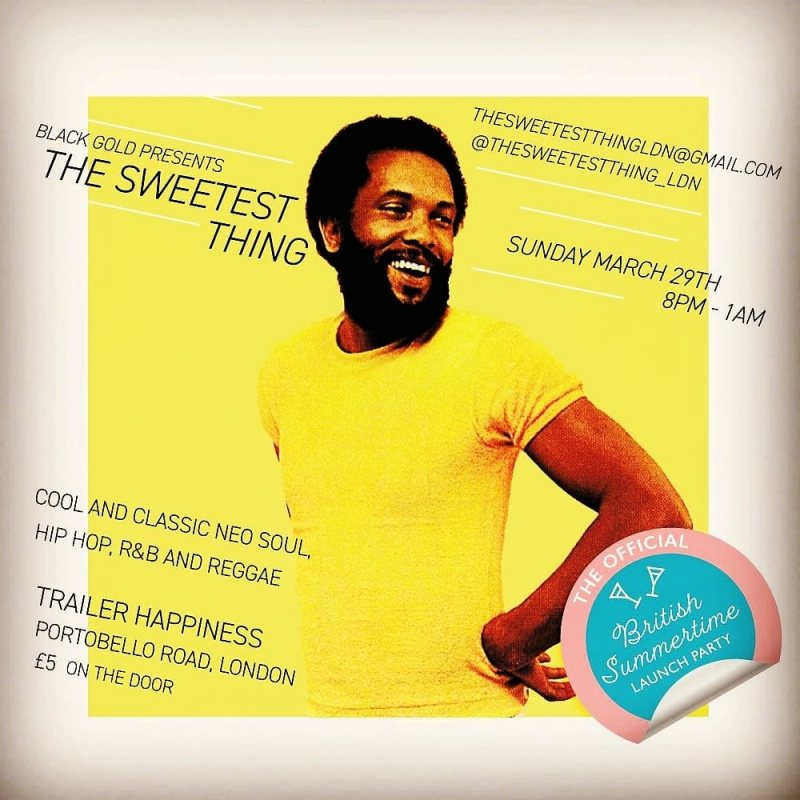 The Sweetest Thing at Trailer Happiness on Sun 29th March 2020 Flyer