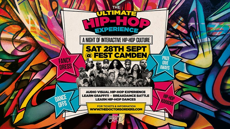 The Ultimate Hip-Hop Experience at FEST Camden on Sat 28th September 2019 Flyer