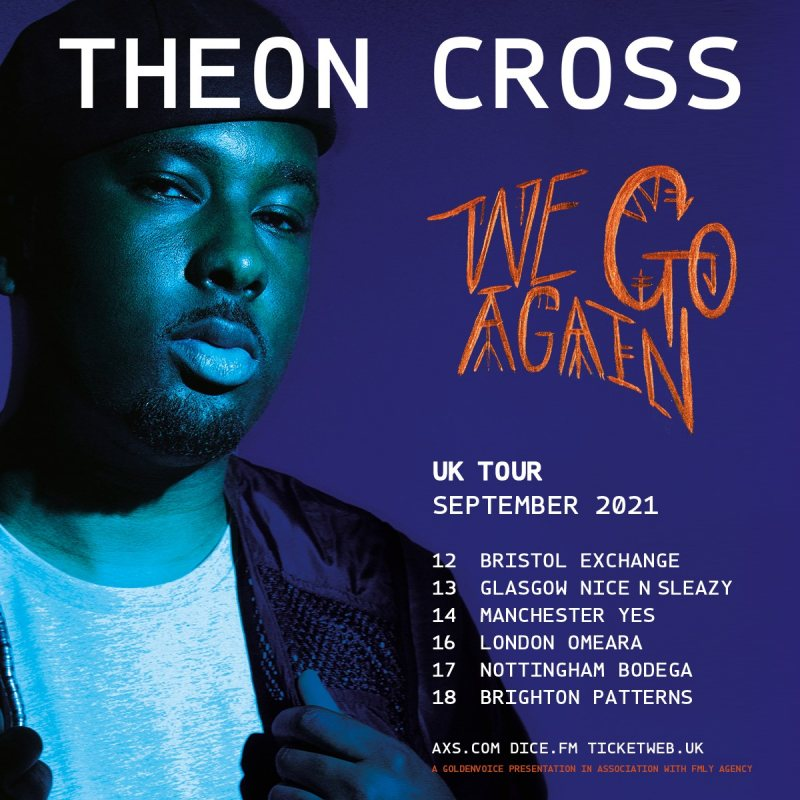 Theon Cross at Omeara on Thu 16th September 2021 Flyer