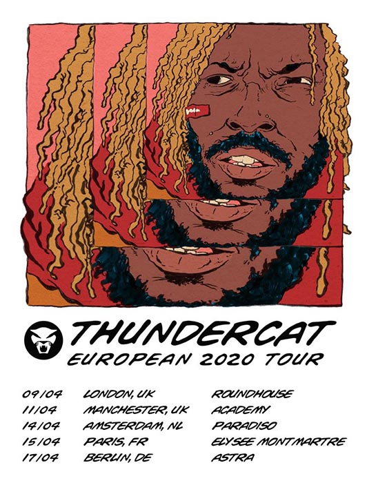 Thundercat at The Roundhouse on Thu 9th April 2020 Flyer