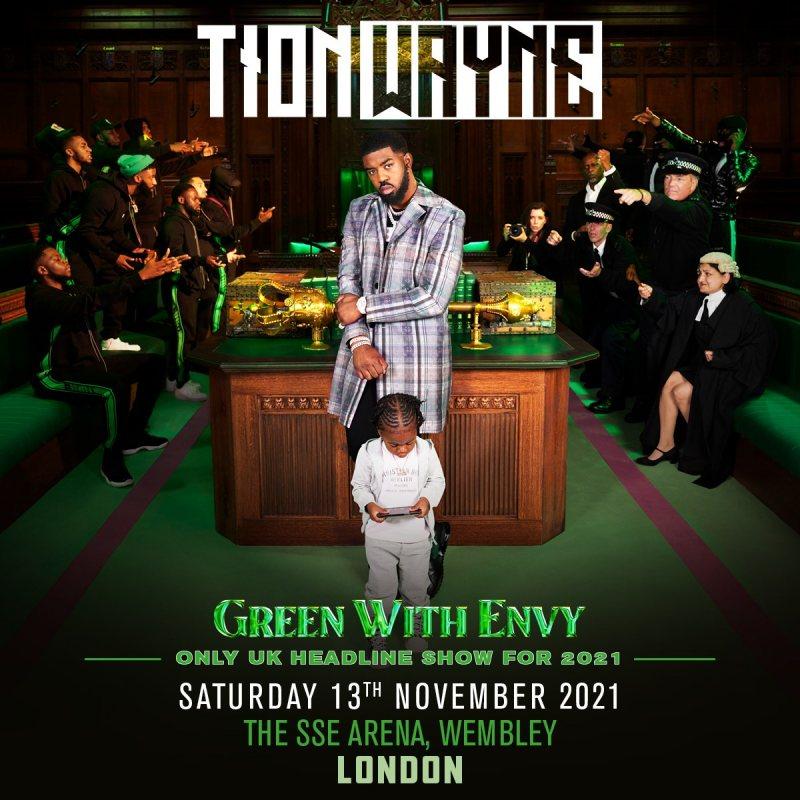 Tion Wayne at Wembley Arena on Sat 13th November 2021 Flyer