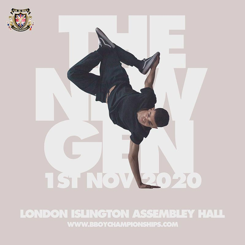 UK B-Boy Championships at Islington Assembly Hall on Sun 1st November 2020 Flyer