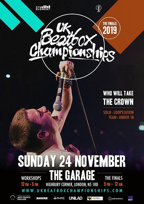 UK Beatbox Championships at The Garage on Sun 24th November 2019 Flyer
