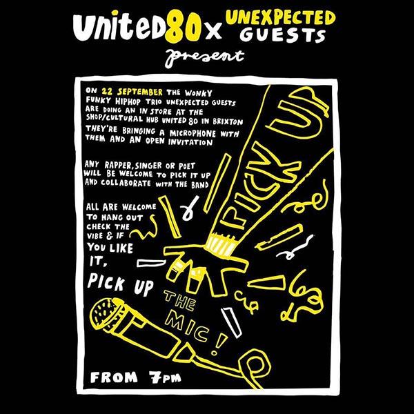 Pick Up The Mic at United80 on Fri 22nd September 2017 Flyer