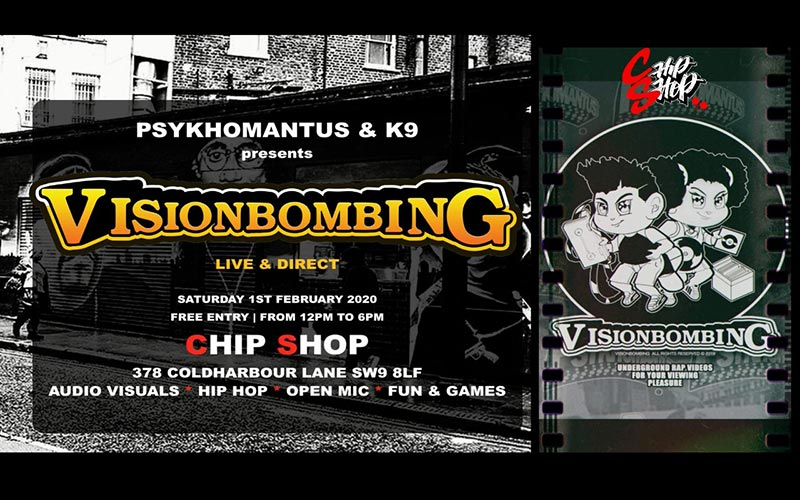 VisionBombing at Chip Shop BXTN on Sat 1st February 2020 Flyer