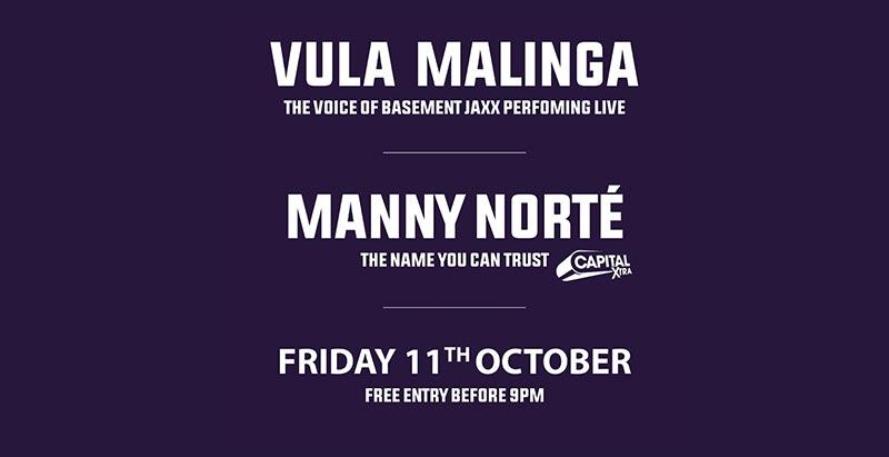 Vula Malinga at Paradise by way of Kensal Green on Fri 11th October 2019 Flyer