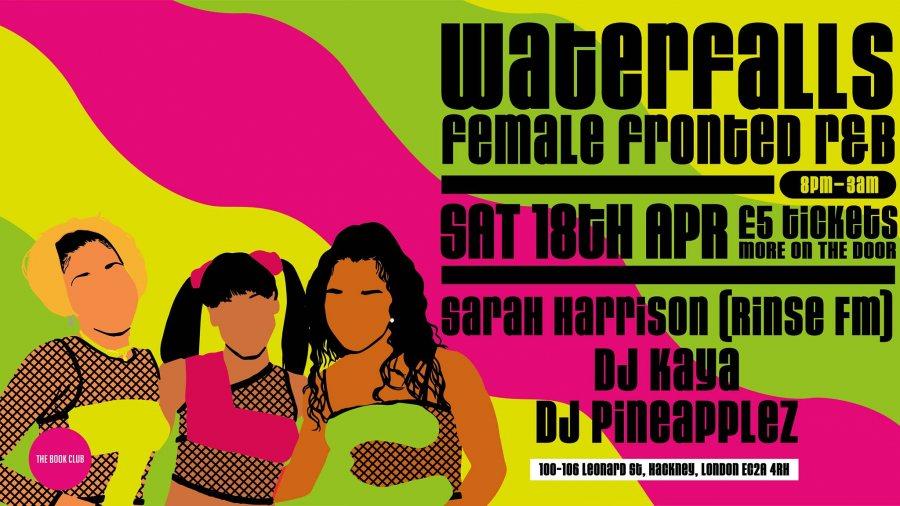 Waterfalls at Book Club on Sat 18th April 2020 Flyer
