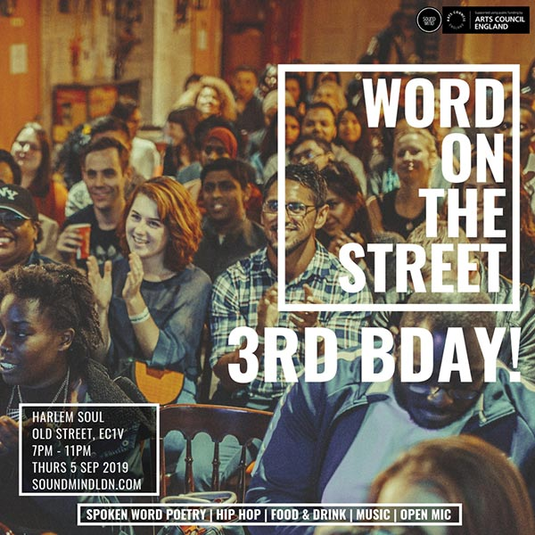 Word on the Street at Harlem Soul on Thu 5th September 2019 Flyer