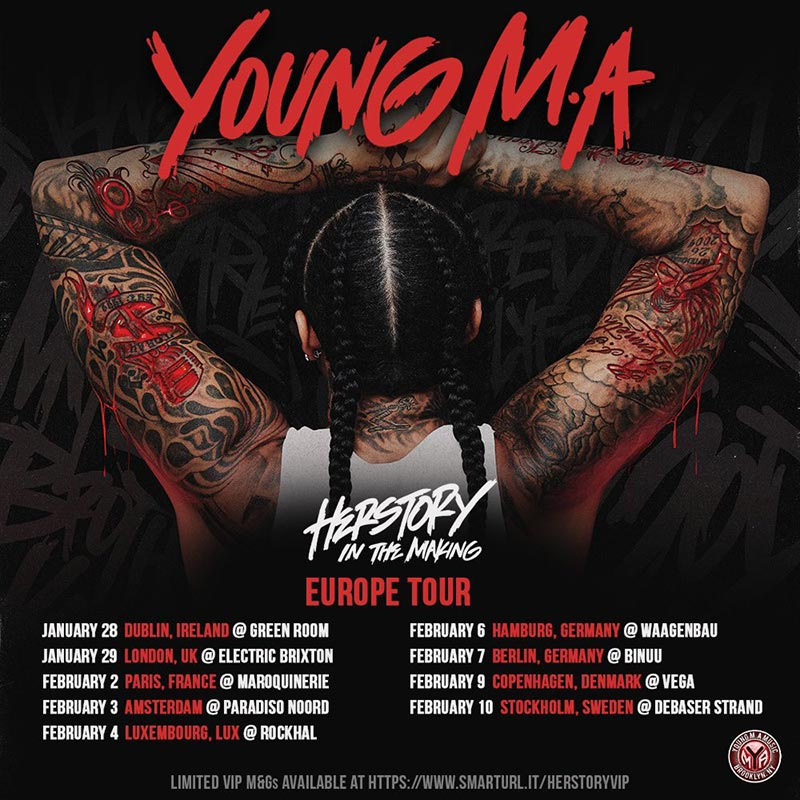 Young M.A. at Electric Brixton on Wed 29th January 2020 Flyer