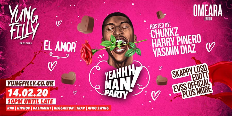 YeahhhMan - El Amor Valentines Special at Omeara on Fri 14th February 2020 Flyer