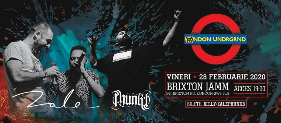 ZALE & Phunk B at Brixton Jamm on Fri 28th February 2020 Flyer